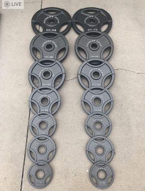 Olympic weight plates (2x45Lbs, 2x35Lbs, 2x25Lbs, 2x10Lbs, 4x5Lbs, 2x2.5Lbs) for $440 Firm on Price for Sale in Walnut, CA