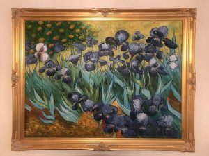 Extra large Vincent Van Gogh Arises oil painting gold solid wood frame for Sale in Tempe, AZ