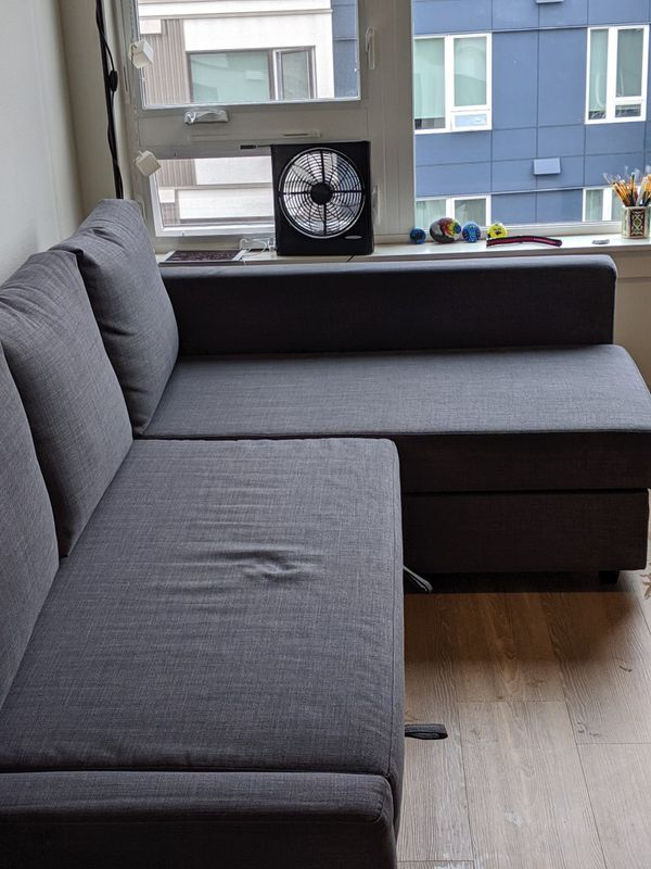 Ikea Friheten Sleeper Sectional 3 Seat Sofa W Storage