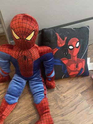 Spider man stuffed animal and pillow for Sale in Sun Lakes, AZ