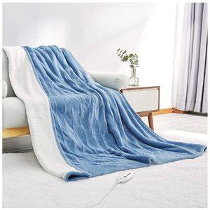 "Electric Heated Blanket Twin Size 62""x 84"" Flannel & Shu Velveteen Reversible, Fast Heating and for Full Body Warming with 10 Hours Auto Off & 4 Heat for Sale in Orange, CA"
