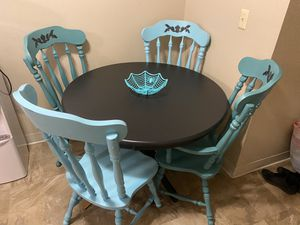 Vintage table and chairs repainted by me for Sale in San Bernardino, CA
