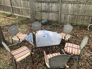 Outdoor Glass table set for Sale in Columbia, SC