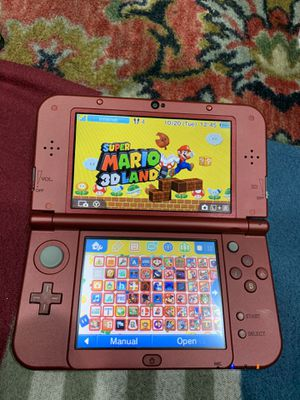 New red Nintendo 3ds xl with 5000 games for Sale in Menlo Park, CA