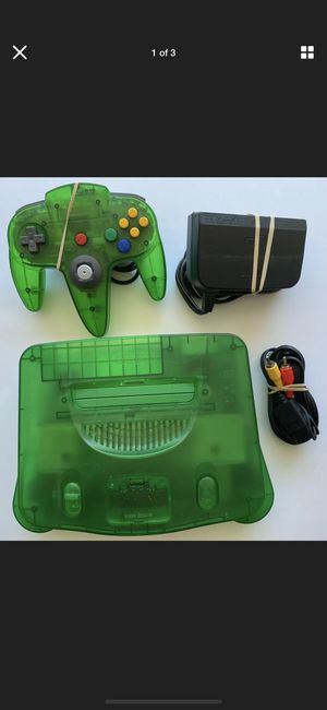 Nintendo jungle green n64 with expansion pack. for Sale in Pembroke Pines, FL