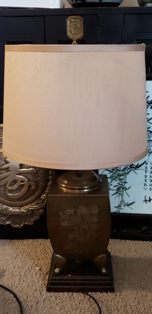 Vintage Solid Brass Oriental Jungle theme lamp for Sale in Midlothian, VA