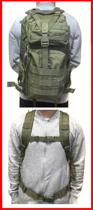 Brand NEW! Olive Green Tactical Molle Backpack For Everyday Use/Traveling/Sports/Hiking/Work/Biking/Hunting/Fishing/Camping/Outdoors $25 for Sale in Carson, CA