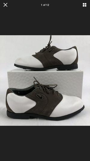 Nike Air Zoom Tradition Brown White Leather Spike Golf Shoes Mens 9.5 for Sale in Orlando, FL