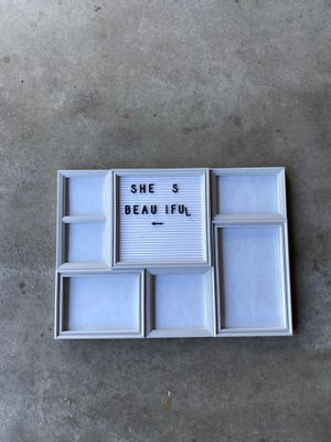 Photo frame w/ letters for Sale in Long Beach, CA