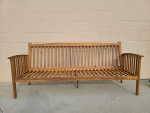 Teak outdoor furniture bench for Sale in Huntington Beach, CA