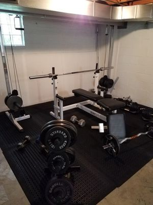 Weight Set with cross over cable's for Sale in Blue Island, IL