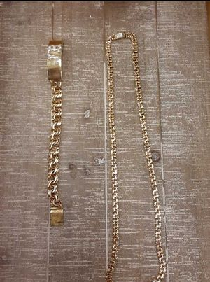 10k gold chain and bracelet for Sale in Miami, FL