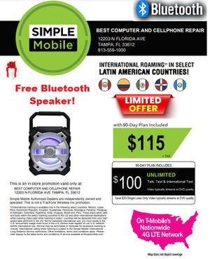 Free Bluetooth speaker for Sale in Tampa, FL