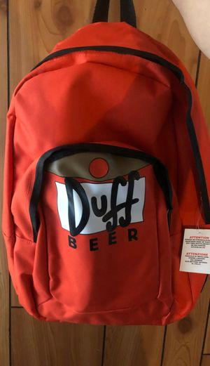 Universal Studios Exclusive Duff Beer Orange Backpack for Sale in Artesia, CA
