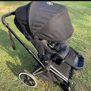 CYBEX Priam lux trekking stroller black/denim (dk grey) for Sale in Norcross, GA