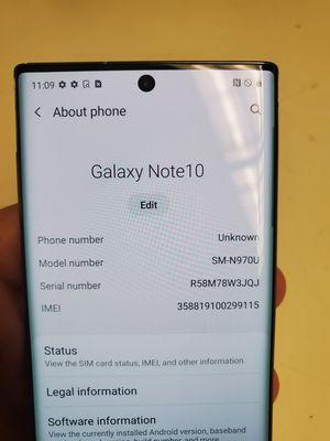 Samsung Galaxy Note 10 Unlocked for Sale in Miami, FL