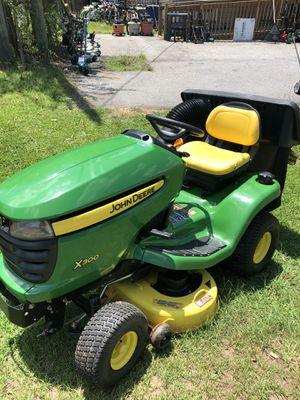 John Deere Riding Mower X300 With Bagger for Sale in Dallas, GA