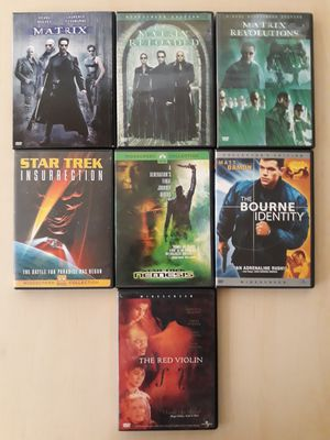 7 DVD lot including Matrix Trilogies and Star Trek for Sale in West Los Angeles, CA