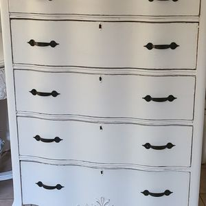 Antique Farmhouse Chest Of Drawers Solid Wood for Sale in Ontario, CA