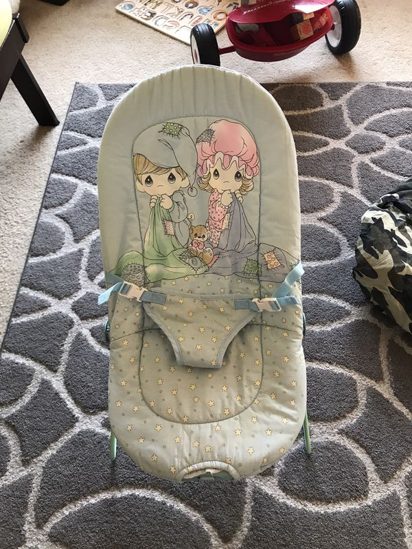 Baby items - carrier, car seat cover, bouncer etc