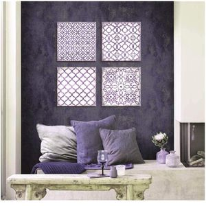 Large Wall Art for Bedroom Bathroom Wall Decor Purple Flower Pattern Canvas Prints Dining Room Decor Abstract Pictures Modern Boho Wall Art Framed Art for Sale in Mesquite, TX