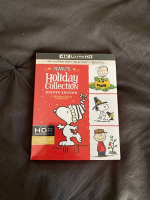 Peanuts Holiday Collection Deluxe Edition 4K Blu Ray Sealed for Sale in Orange, CA