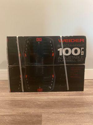 Weider 100lb Adjustable Dumbbells for Sale in Hawthorne, CA
