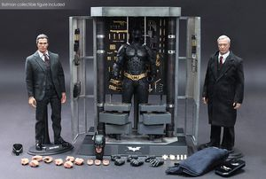Hot Toys Dark Knight MMS236 Batman Armory with Bruce Wayne & Alfred Pennyworth 1/6th Scale Collectible Set for Sale in Lakewood, CA