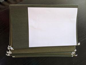 Cabinet paper file folders - 11 counts for Sale in Bellevue, WA