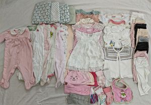 45 PCs baby girl 6-12 months clothes pajamas onesuit fall winter for Sale in South Riding, VA
