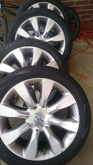 245/45ZR18 infinity factory Rims and tires for Sale in Atlanta, GA