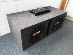 Amp + Subwoofers + Box Combo for Sale in Columbus, OH