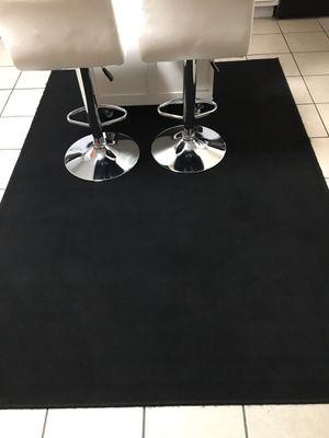 5 by 7 black indoor our door rug for Sale in Cuddy, PA