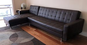 Leather Sleeper Sectional Couch - 2018 for Sale in Philadelphia, PA