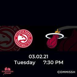 Miami Heat vs Atlanta Hawks for Sale in Miami,  FL