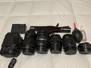 Canon EOS Rebel T6I 24.2MP Digital SLR Camera with Lenses for Sale in Sunnyvale, CA