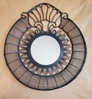Circular wire wall art with mirror for Sale in Mt. Juliet, TN