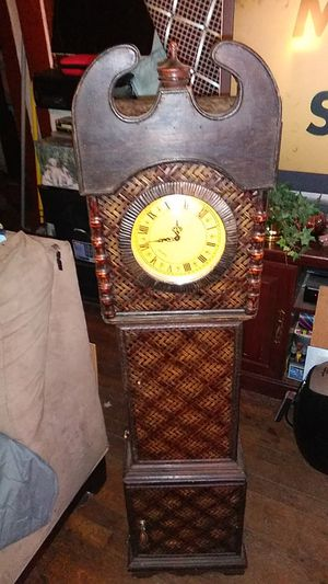 Reduced $60 5 foot tall antique clock with three doors storage areas for Sale in Lexington, KY