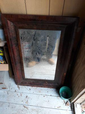 Antique wood mirror for Sale in Hazlet, NJ