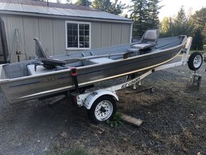 14' aluminum Fishing boat for Sale in Enumclaw, WA