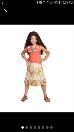 GirlsDisney Moana Classic Halloween& Wig for Sale in Pomona, CA