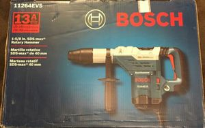 Bosch 13 Amp Corded 1-5/8 in. SDS-max Variable Speed Rotary Hammer Drill with Auxiliary Side Handle and Carrying Case for Sale in Lemont, IL