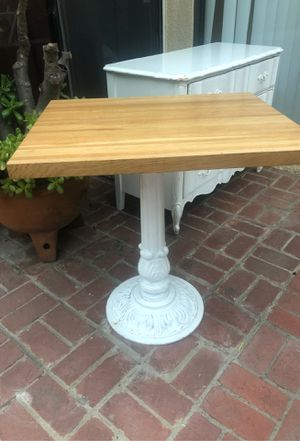 Bistro Table French Shabby Chic Small Dining Table Solid Wood Farmhouse Provincial for Sale in Burbank, CA