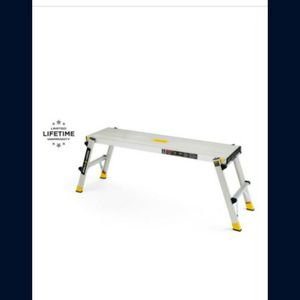 NEW Gorilla Ladders 47.25 in. x 12 in. x 20 in. Aluminum Slim-Fold Work Platform, 300 lbs. Load Capacity for Sale in West Hartford, CT
