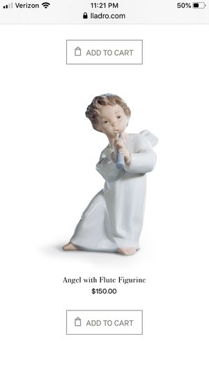 Lladro- Angel with flute figurine for Sale in Fort Worth, TX