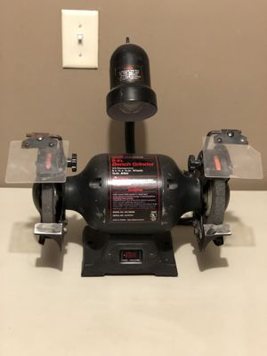 "Craftsman 6"" Bench Grinder 1/3 HP-Works!!! for Sale in Bunker Hill, WV"