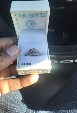 10k wedding ring set real diamonds for Sale in Temple Hills, MD
