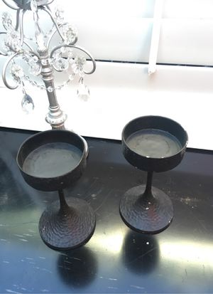 Candle holders. About half ft tall. Metal for Sale in Fresno, CA