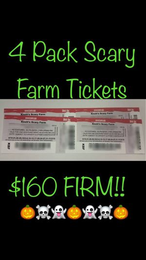 4 Knotts Scary Farm Tickets for Sale in Loma Linda, CA