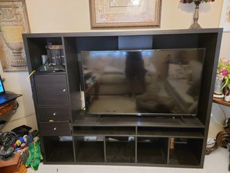 Black Entertainment Unit With Shelves and Drawers for Sale in Fort Lauderdale, FL